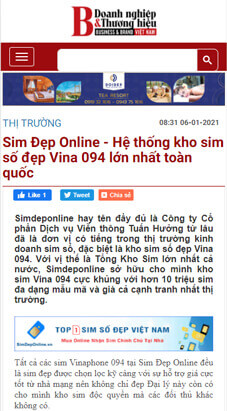 doanhnghiepvathuonghieu viết về simdeponline.vn